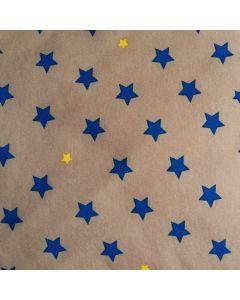 Softshell Stoff mit Sternchen in taupe