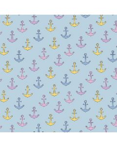 Maritim Magic-Farbwechsel Jersey Stoff mit Ankermotiv