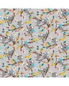 Jersey Stoff mit Koala-Motiven in mint - der Stoff ist ideal für Kinderkleider - für Bodies, T-Shirts, Leggings, Sommerhosen.