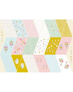 Lässiger Stoff für eine Wimpelkette für Geburtstag - der Stoff ist aus 100% Baumwolle, perfekt für eine Geburtstagsparty, Babyparty