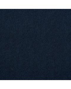 Weicher, bielastischer French Terry Stoff in dunkelblau - der Stoff ist zwar French Terry, der Druck ahmt aber Jeans nach.