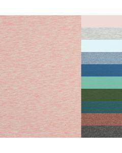 Weicher, bielastischer French Terry Stoff  (Sweat Stoff) in 30 lässigen uni und melange Farben. Der Stoff ist perfekt für mittelwarme Winterpullis, leichte Übergangsjacken, Turnhosen, Mützen; usw.