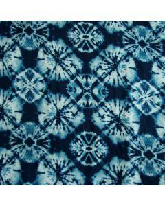 Super weicher, leichter batik Viskose Stoff  in verschiedenen Blautönen für Sommerkleider, Röcke und Blusen.