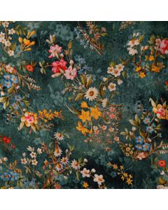 Viskose - Modal Stoff mit Aquarell-Blumenmuster