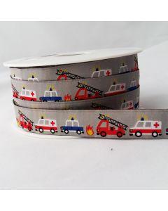 Webband mit Feuerwehr, Krankenwagen, Polizei