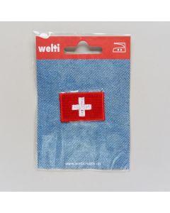 Bügelmotiv, schweizer Kreuz (Fahne), klein