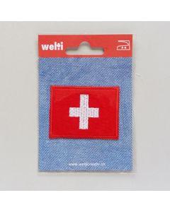Bügelmotiv, schweizer Kreuz (Fahne), gross