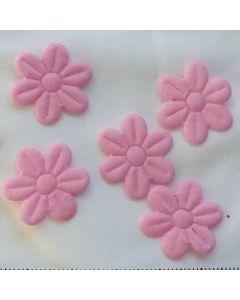 Kleine Blumen, rosa, 2cm, 8 Stk.