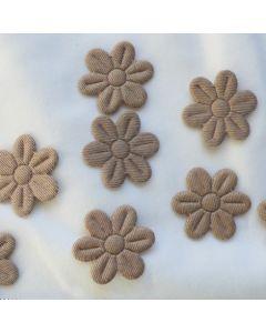 Kleine Blumen, beige, nicht glänzend, 2cm, 8 Stk.