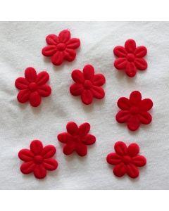 Kleine Blumen, rot, 2cm, 8 Stk.